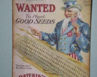 Vintage Seed Ad Gift or Hang Tags