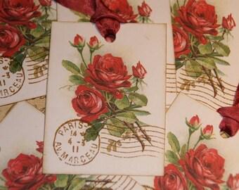 Paris Rose Gift Tags