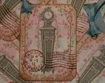 Paris Time Gift Tags