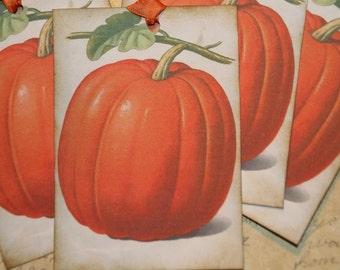 Fall Pumpkin Gift Hang Tags