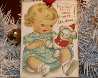 Baby First Christmas Vintage Christmas Tags