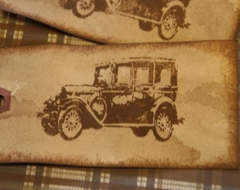 Distressed Model A Ford Gift Tags Primitive