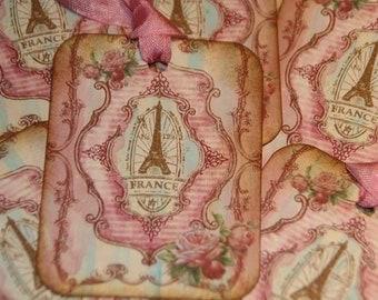 Paris France Gift Tags