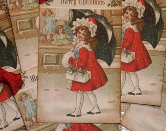 A Snowy Merry Christmas Gift Hang Tags