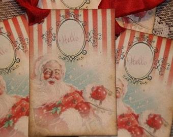 Vintage Santa Claus Christmas Holiday Gift Tags