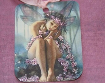 Pink Fairy Purple Gift Tags
