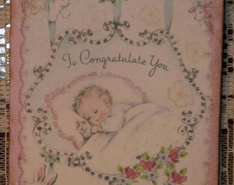 New Baby To Congratulate You - Baby Shower Favor or Gift Tags