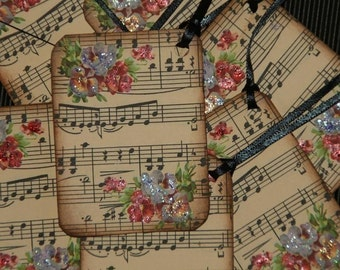 MUSIC LOVER Music Sheet Gift Tags, Music Teacher Gift Tags