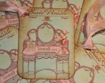 Carte Postale Pretty Pink Paris Gift Tags