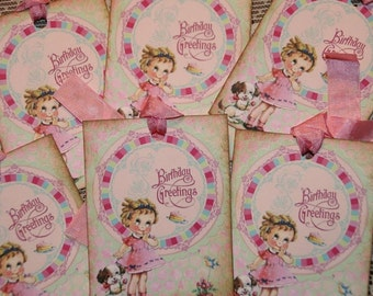 Little Girl Birthday Gift Tags