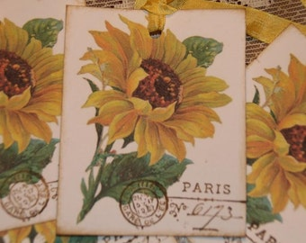 Sunflower Tags