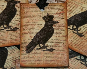 The Crowned Black Crow Tags