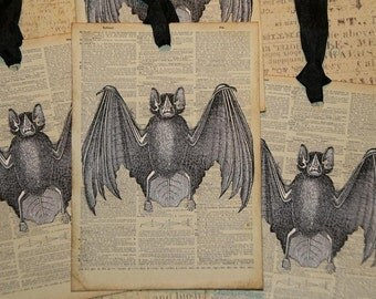 Vintage Bat Dictionery Page Tags