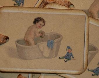 Baby Bath Time Tags