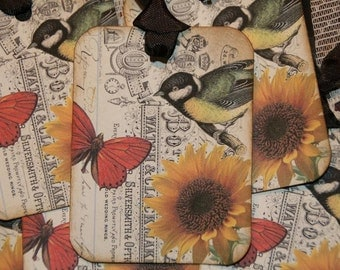 Altered Art Sweet Bird Tags