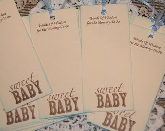 Wishes for Baby Boy- Baby Shower Wish Tree Tags-Words of Wisdom for the Mommy To Be-Baby Shower Wishes-25
