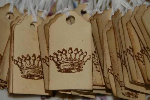 200  Paris Inspired Crown Price Tags
