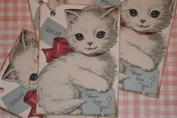 Hello White Kitty GIFT TAGS