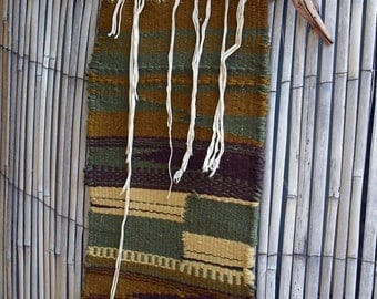 Vintage Wool Weaved Tribal Wall Hanging - wall hanging