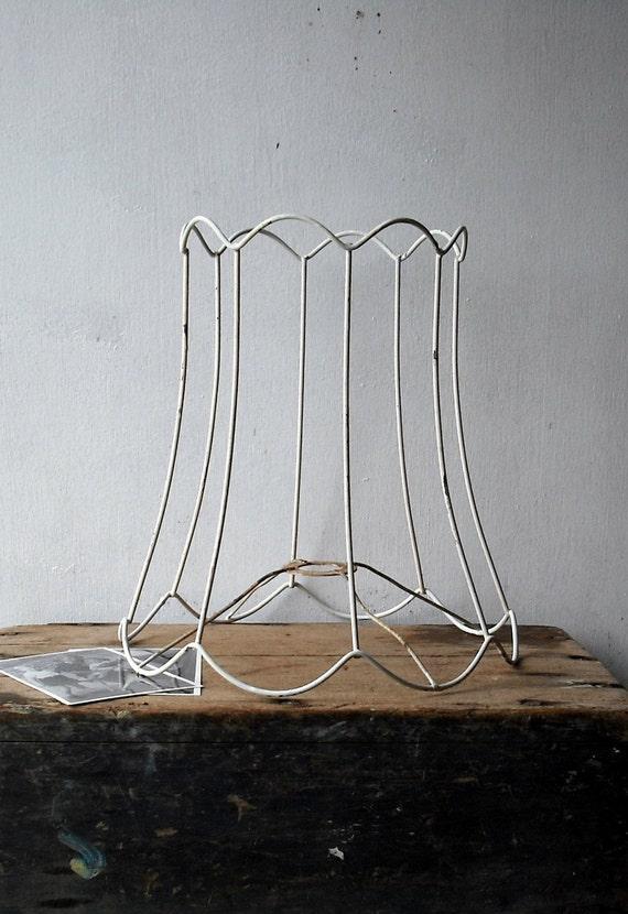 vintage wire lamp shade frame. Black Bedroom Furniture Sets. Home Design Ideas