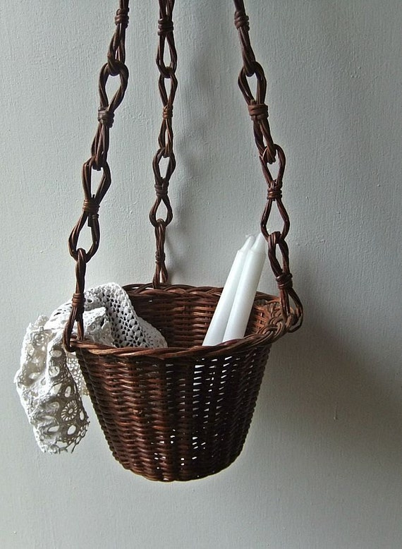 Vintage Hanging Baskets - A pair