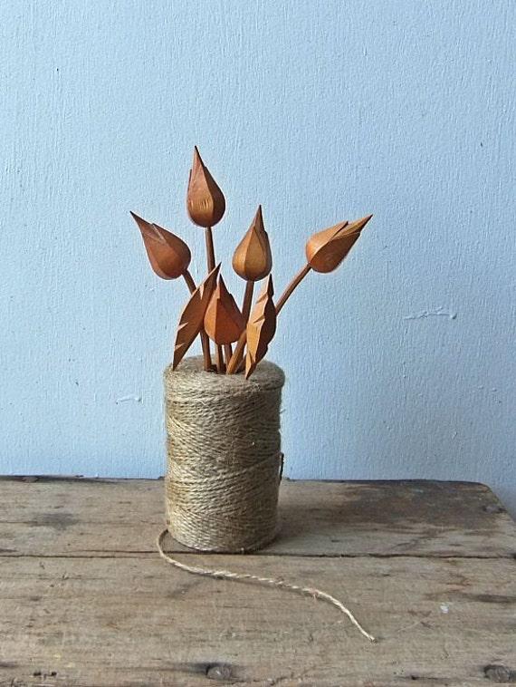 Vintage Wooden Flowers