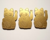 Lucky Cat Brooch- laser cut acrylic
