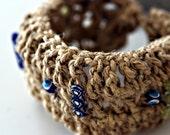 Hemp String Bracelet with Evil Eye