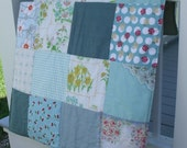 Sea Foam and Blossoms Baby/Child or Lap Quilt