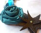 teal heirloom necklace