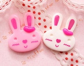 Japanese Lovely Bunny Cabochon Craft Supplies - 6pcs