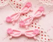 Kawaii Decoden Kids Pink Flower Sunglass Cabochon - 10pcs