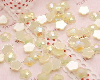 Yellow Stars AB Bubblegum Colored Rhinestones - 50pc