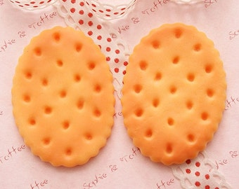 Big Oval Baked Biscuit Cabochons - 5pcs