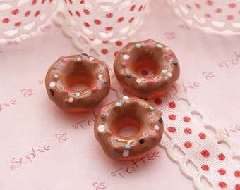Decoden Sprinkles Chocolate Donut Cabochon Set of 5pcs