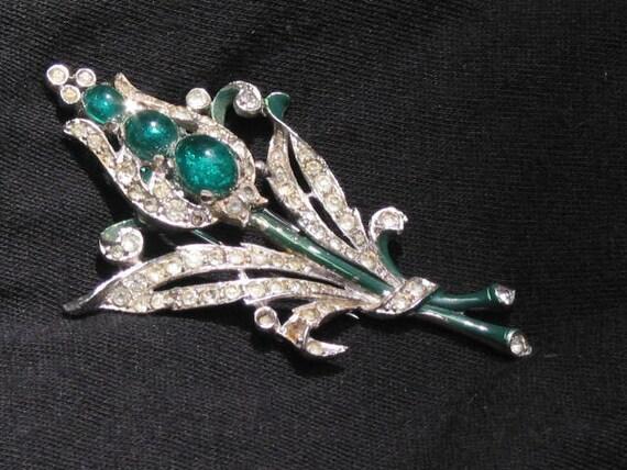 RESERVED for Rachel  - 1940 Alfred Phillipe patent 122092 TRIFARI fur dress clip pin brooch