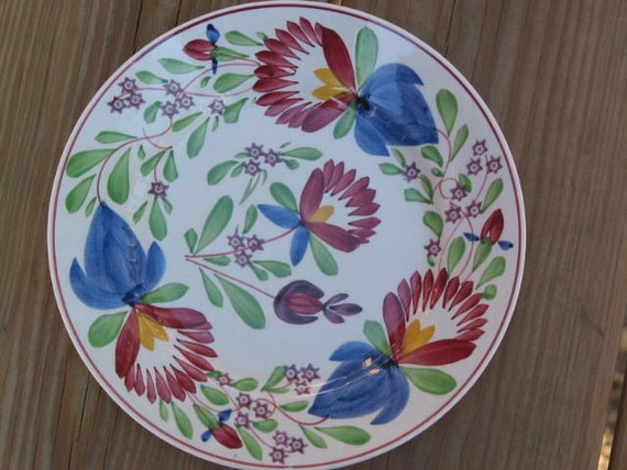 Villeroy & Boch Wallerfangen floral Plate hand painted early 20th century