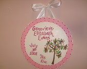 SWEET LIL SPROUT - Birth Plaque - Custom for your little one - SPECIAL DEAL ITEM