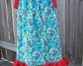 SBS sz 5 - Lady Bugs and Daisys Pillowcase Dress