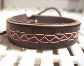 Hand Embroidered Leather Cuff II.
