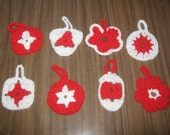 SALE Crocheted Christmas Ornaments