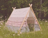 Reserved for Cassidy Freitas:  Children's A-Frame Ruffle cover and Complete Tent Set