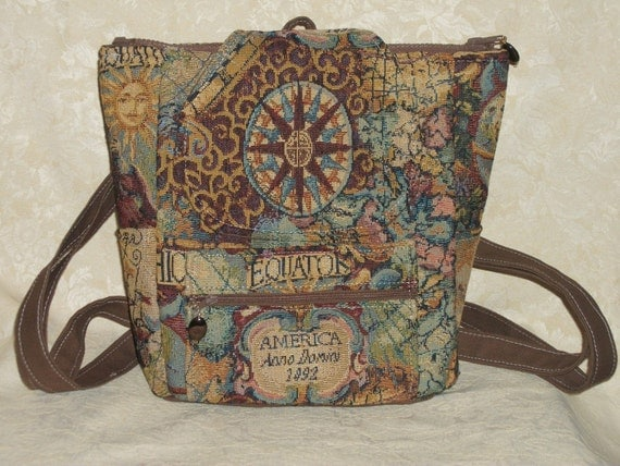Custom Backpack Order for Elizabeth Purse Old World Map Design