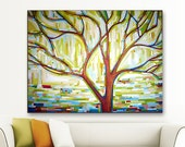 Tree Song no. 12 Left on Laura.. (40x30) Original Painting on canvas by Kristi Taylor