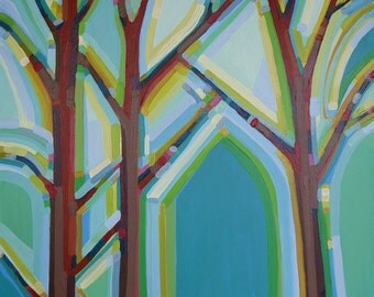 Tree Song no.1 To Live is to Fly (24x24) Original Painting on Canvas by artist Kristi Taylor