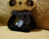 Needle felted Panda Bear with Scarf