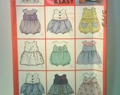 Butterick 3146 Baby Clothes Pattern - Dresses and Romper