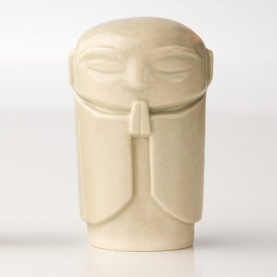 "Jizo - Classic Celadon glaze, 2.5-2.75"" tall Jizo statue"