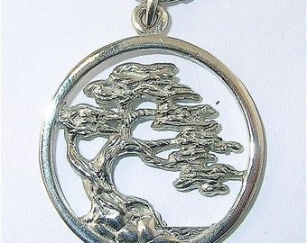 Sterling Silver Cypress Tree Pendant