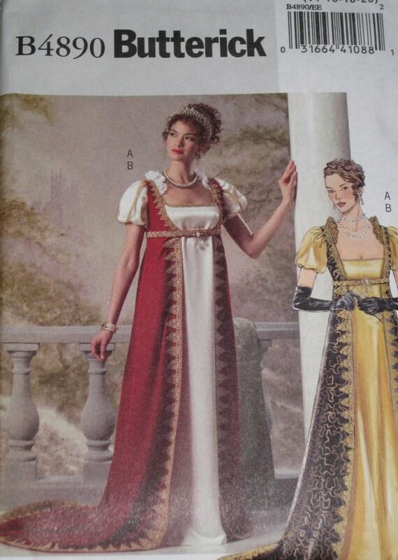 1800s Regency Reenactment Dress Sewing Pattern By